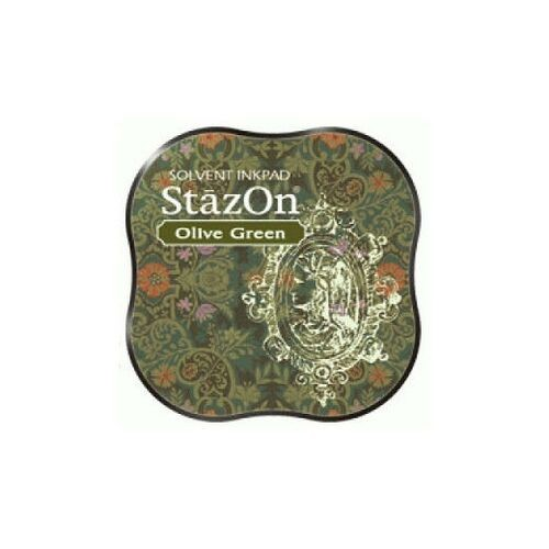 Tsukineko - Stazon Midi Pad Olive Green