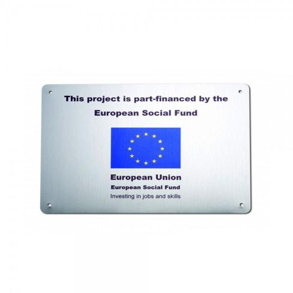 Custom wall plaque - 265 x 190 mm - brushed aluminium
