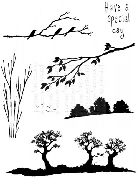 Lindsay Mason Designs - Silhouette Scenes - Clear Stamp