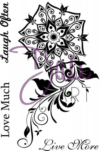 DaliArt - DaliART Clear Stamp Henna Poppy - Live, Love, Laugh