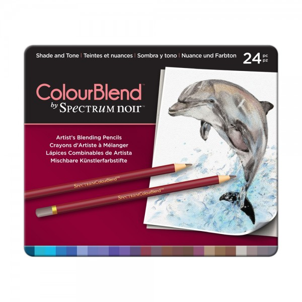 Spectrum Noir 24 Piece ColourBlend Pencil Set - Shade and Tone