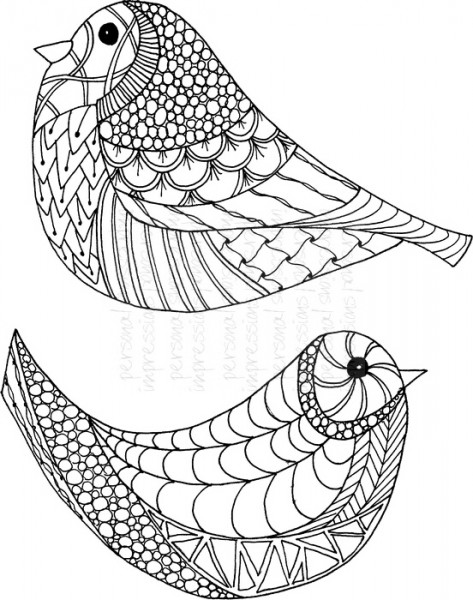 Lindsay Mason Designs - Bird Pair Ready To Go - Clear Stamp
