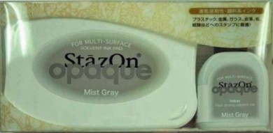 Stamp Pads|Arts & Crafts Supplies Tsukineko Mist Gray StazOn Pad