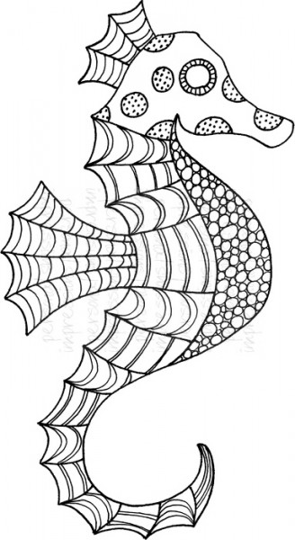 Lindsay Mason Designs - Seahorse Ready To Go - Clear Stamp