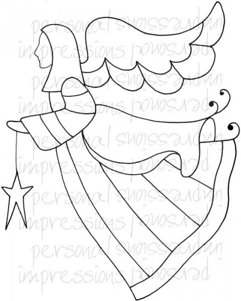 Lindsay Mason Designs - Zendoodle Angel A6 Clear Stamp