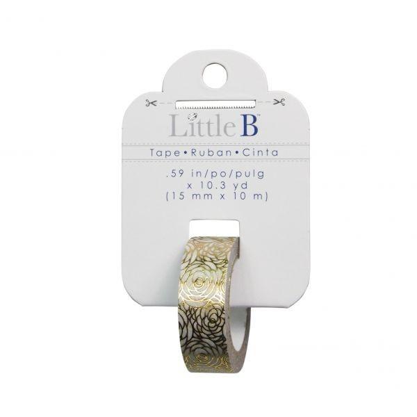 Little B - Gold Foil Rose 15mm Tape