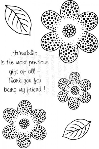 Art Stamps - SD Dotty Daisy - Clear Stamp