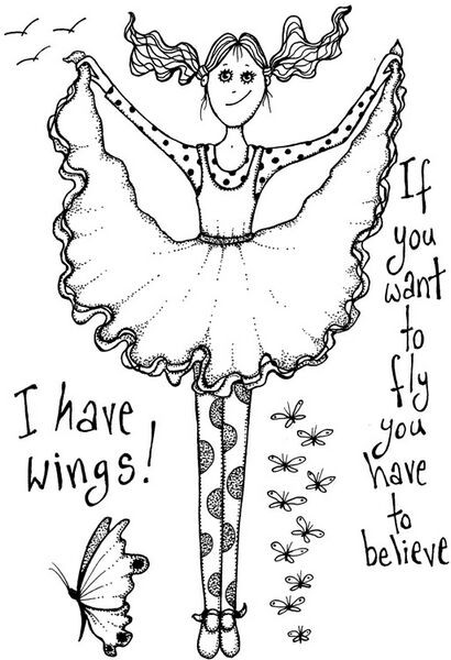 Lindsay Mason Designs - I can fly Clear Stamp