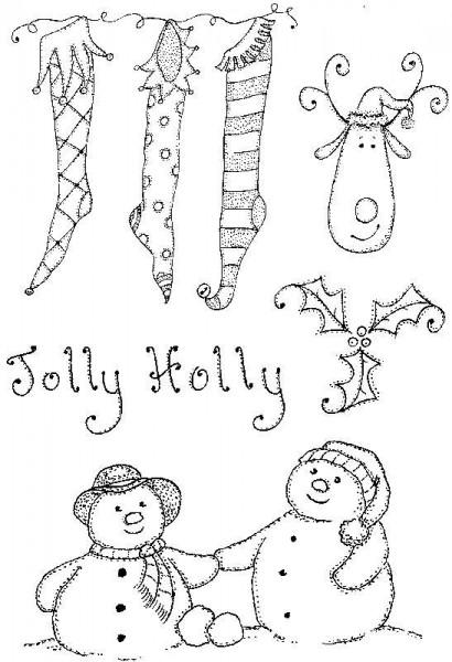 Lindsay Mason Designs - Clear Stamp - Jolly Holly