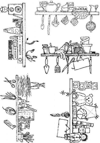 Lindsay Mason Designs - Shelves Clear Stamps A5 Sheet
