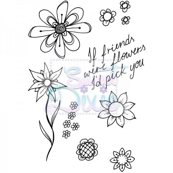Lindsay Mason Designs - Flower Frenzy Clear Stamp size A6
