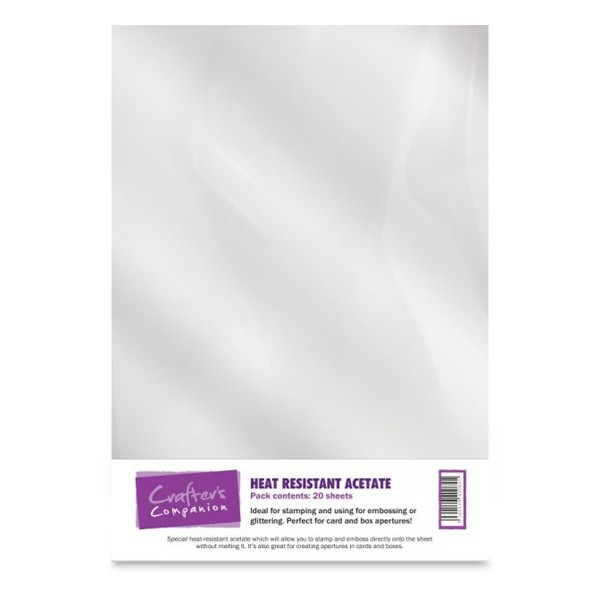 Crafter's Companion Heat Resistant Acetate - 20 Sheets
