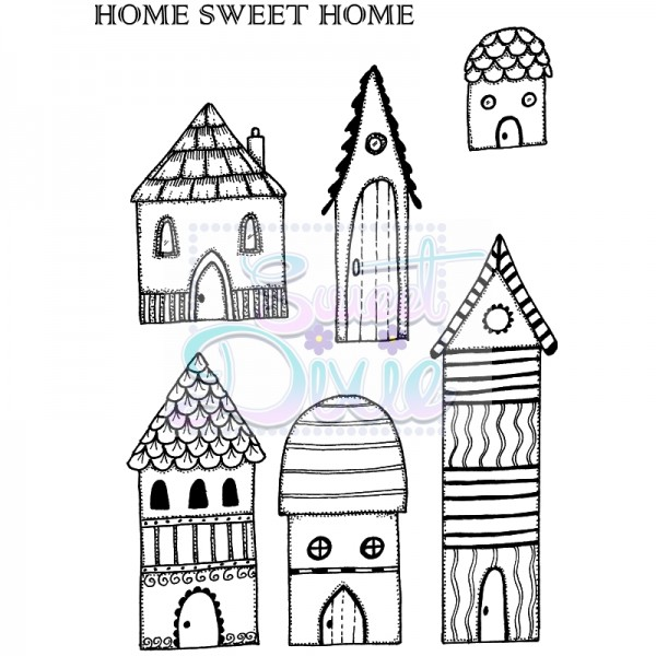 Lindsay Mason Designs - Home Sweet Home Clear Stamp size A6