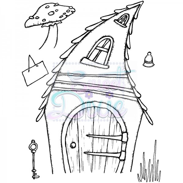 Lindsay Mason Designs - Crooked Fairy Door Clear Stamp size A6