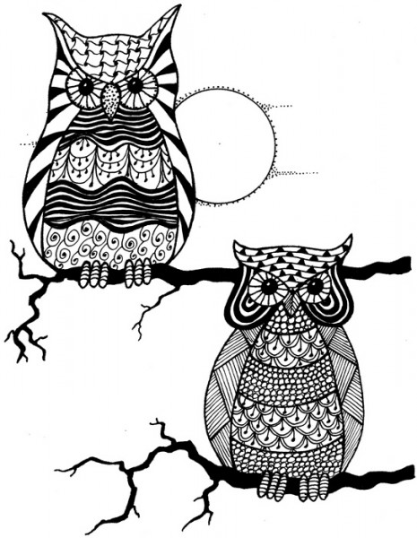Lindsay Mason Designs - Zendoodles Owl Buddies Ready To Go Clear Stamp
