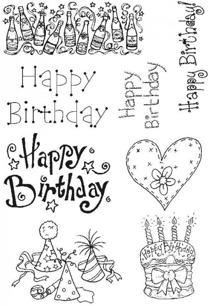 Lindsay Mason Designs - LM Happy Birthday Set 1 Clear Stamps