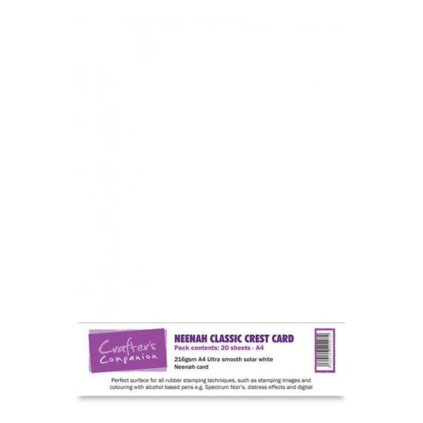 Crafter's Companion Neenah A4 Classic Card Pack - 20 Sheets Solar White