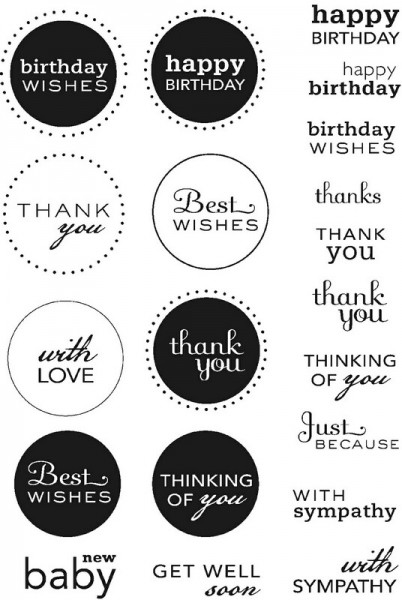 Art Stamps - PA Mixed Sentiments Clear Stamps