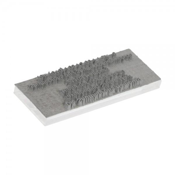 Textplate for Trodat Printy 4907 13 x 6 mm - 1 line