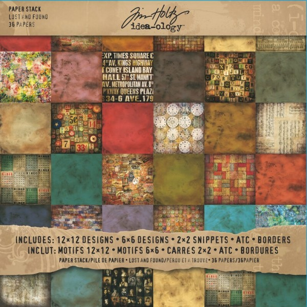 Tim Holtz idea-ology - Paper Stash, Lost and Found (36 pag