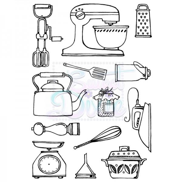Cathie Shuttlworth Designs - Kitchen Wares Clear Stamp A6