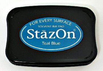 Tsukineko - Teal Blue Staz On Pad