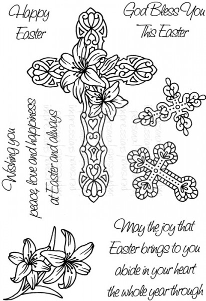Art Stamps - SD Easter Crosses - Clear Stamp