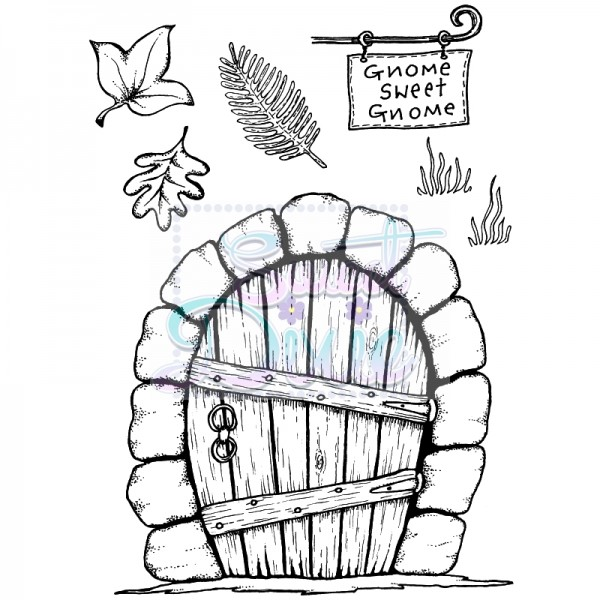 Lindsay Mason Designs - Gnome Door Clear Stamp size A6