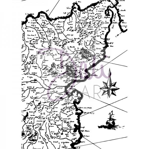 DaliArt - DaliART Clear Stamp Treasure Map A6
