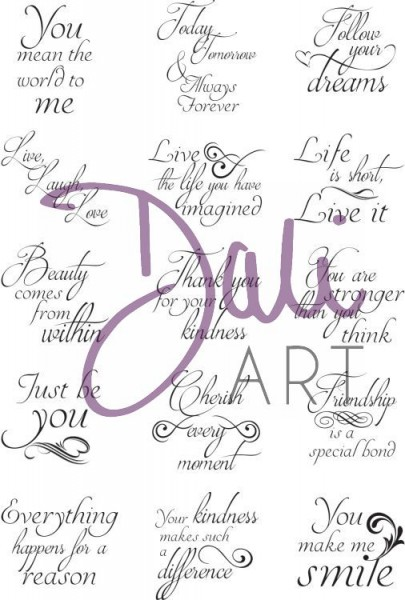DaliArt - DaliART Clear Stamp 1 inch Circle/Square Sentiments