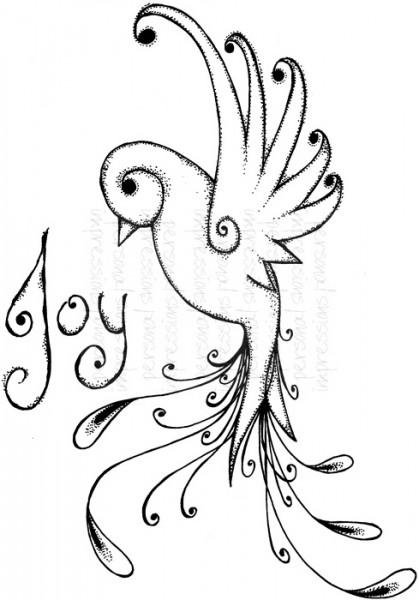 Lindsay Mason Designs - Tattoo Bird - Clear Stamp