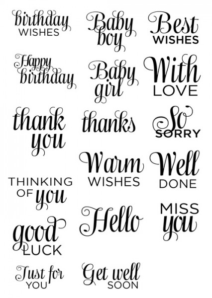 Sweet Dixie - Sentiments Everyday Messages Clear Stamps