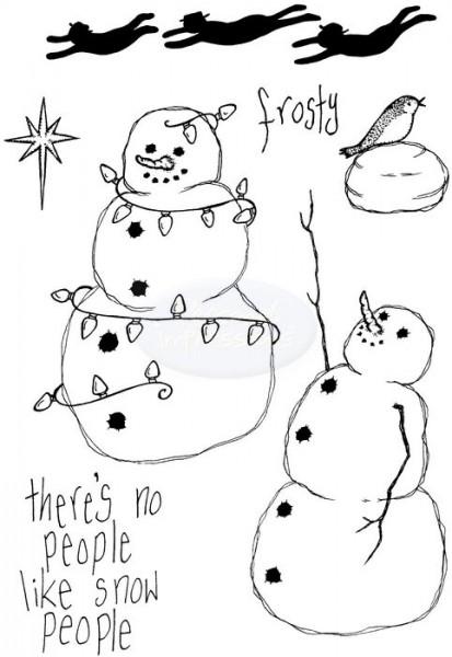 Lindsay Mason Designs - Flying Snowmen Clear Stamp