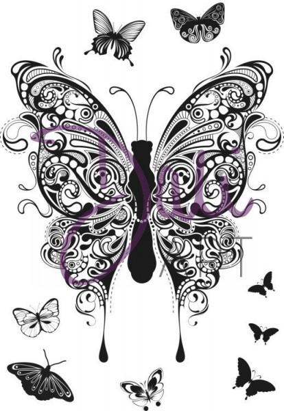 DaliArt - DaliART Clear Stamp Henna Butterflies