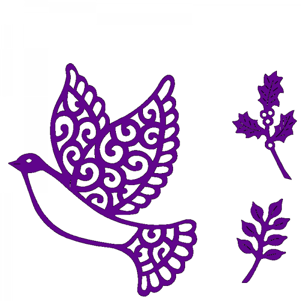Sweet Dixie Christmas Dove designed by Sue Dix