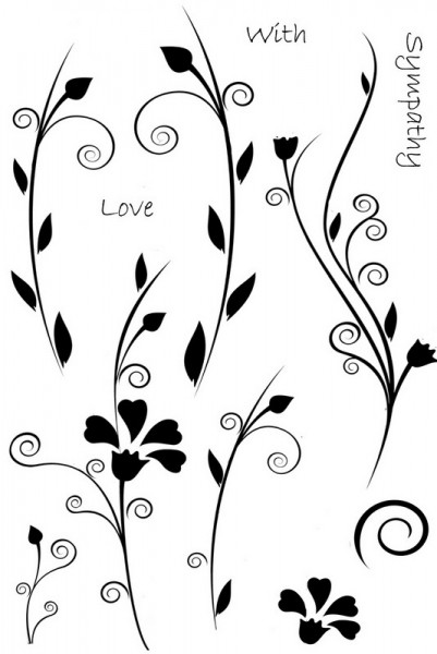 Sweet Dixie - Floral Words Clear Stamp