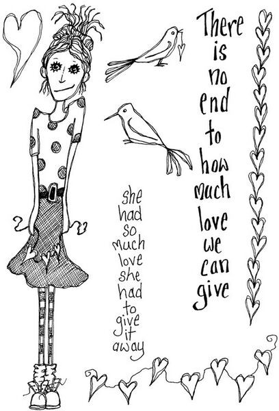 Lindsay Mason Designs - How Much Love Clear Stamp