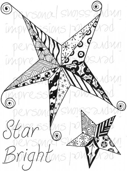 Lindsay Mason Designs - Zendoodle Star Bright Ready To Go A6 Clear Stamp