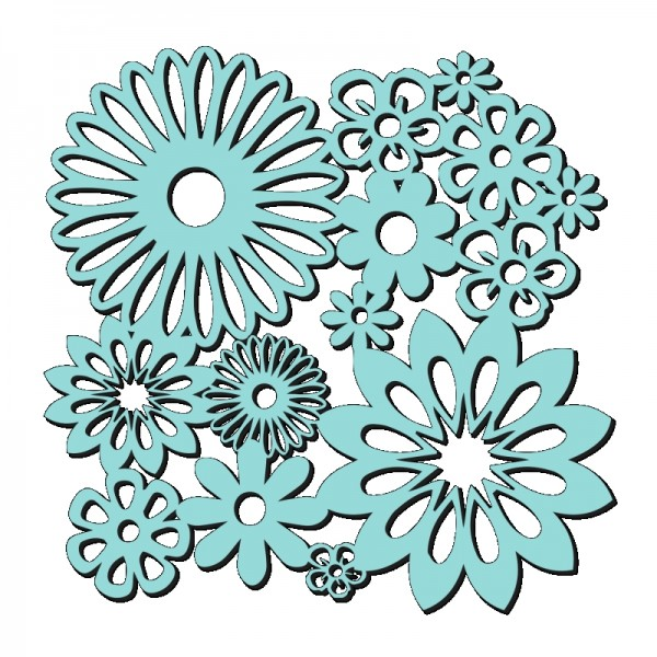 Kath Halstead Designs - Sweet Dixie Spring Blooms Stencil