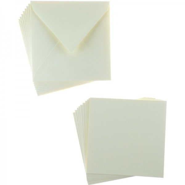 Arts & Crafts Supplies|Stencils Sweet Dixie Cream Square Card and Envelope Packs (10)