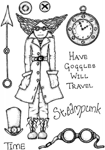 Lindsay Mason Designs - A6 Time Travel Clear Stamp
