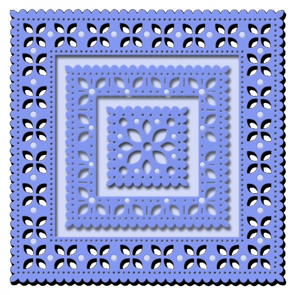 Sue Dix Designs - Embroidery Style Frame Everyday Metal Dies
