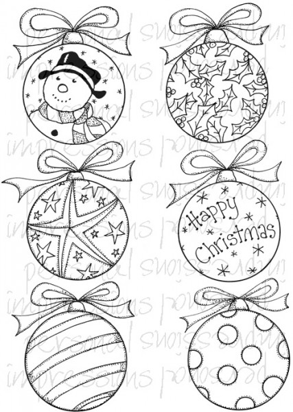 Lindsay Mason Designs - Christmas Baubles A6 Clear Stamp