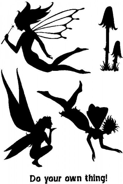 Lindsay Mason Designs - LM Fairy Silhouette Clear Stamps