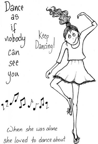 Lindsay Mason Designs - Doo-Lally-Pip Keep Dancing Clear Stamp