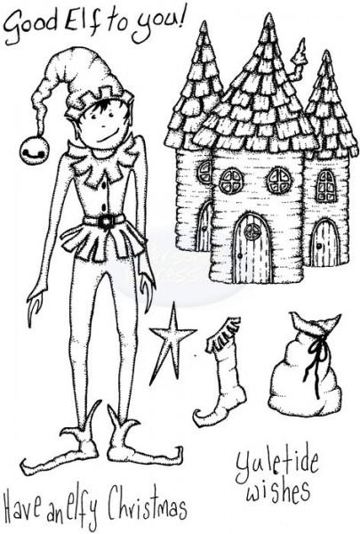 Lindsay Mason Designs - Elfy Christmas Clear Stamp