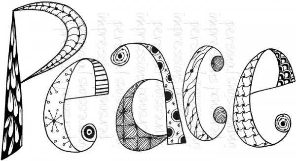Lindsay Mason Designs - Zendoodle Peace Ready To Go A6 Clear Stamp