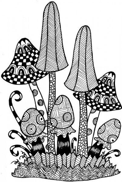 Lindsay Mason Designs - Zendoodles Fungi Ready To Go Clear Stamp