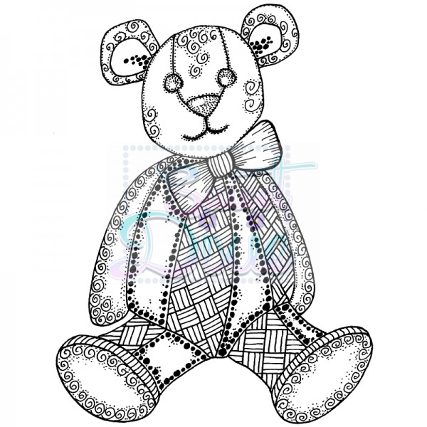 Lindsay Mason Designs - Zendoodle RTG Teddy Clear Stamp size A6